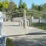 Swinging Iron Gate