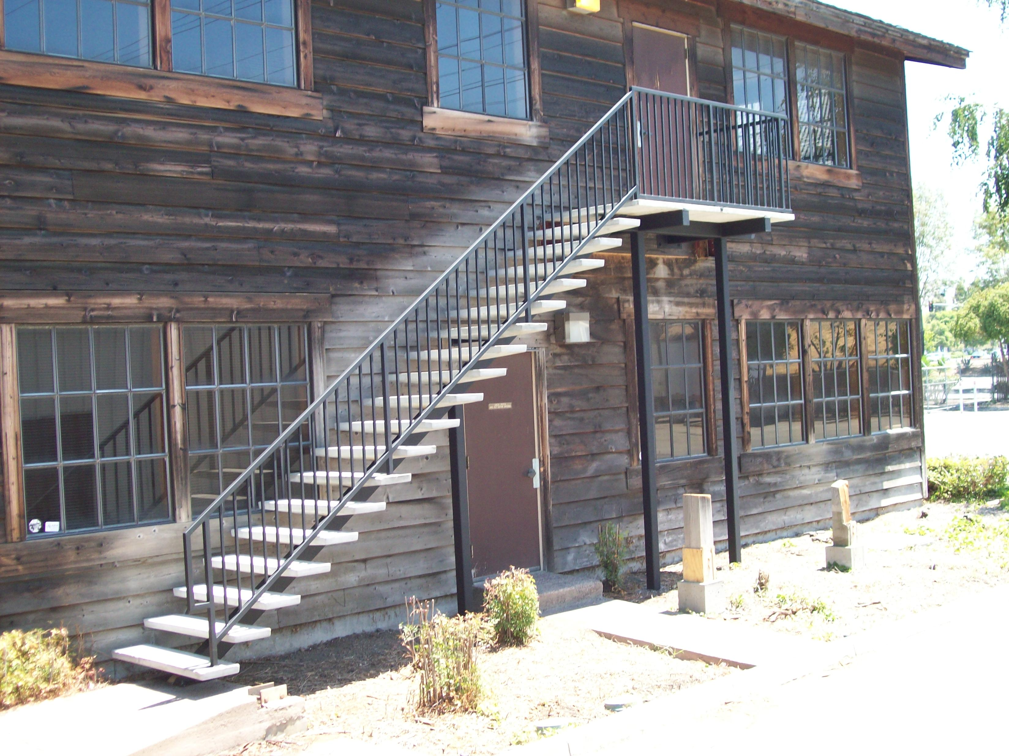 Railings v m iron works inc in the san jose bay area - Metal railings for stairs exterior ...