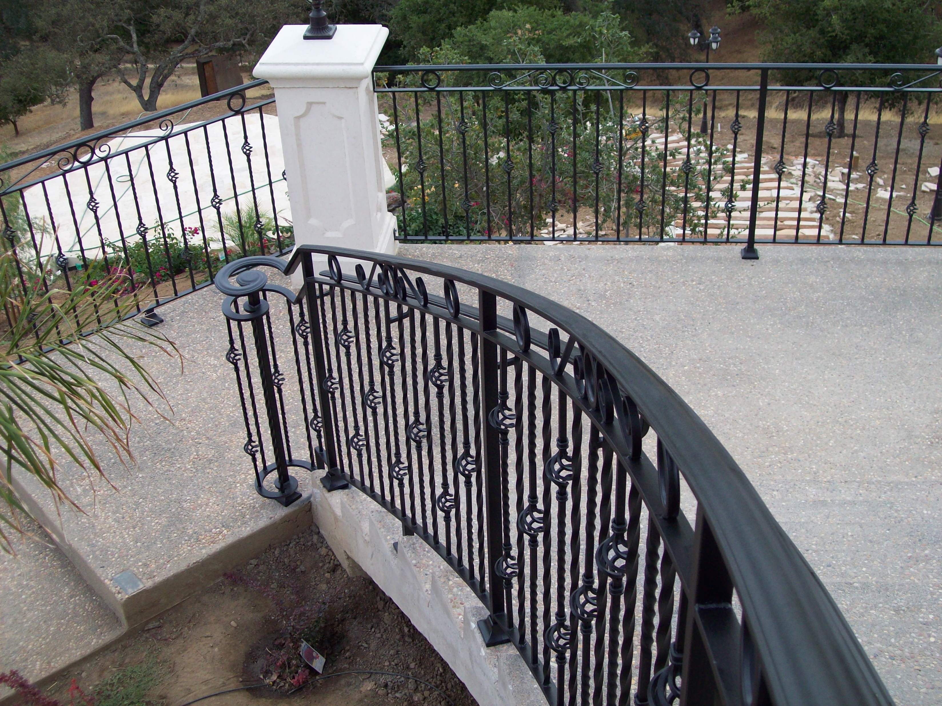 Ornamental railing panels - Iron Ornamental Railings