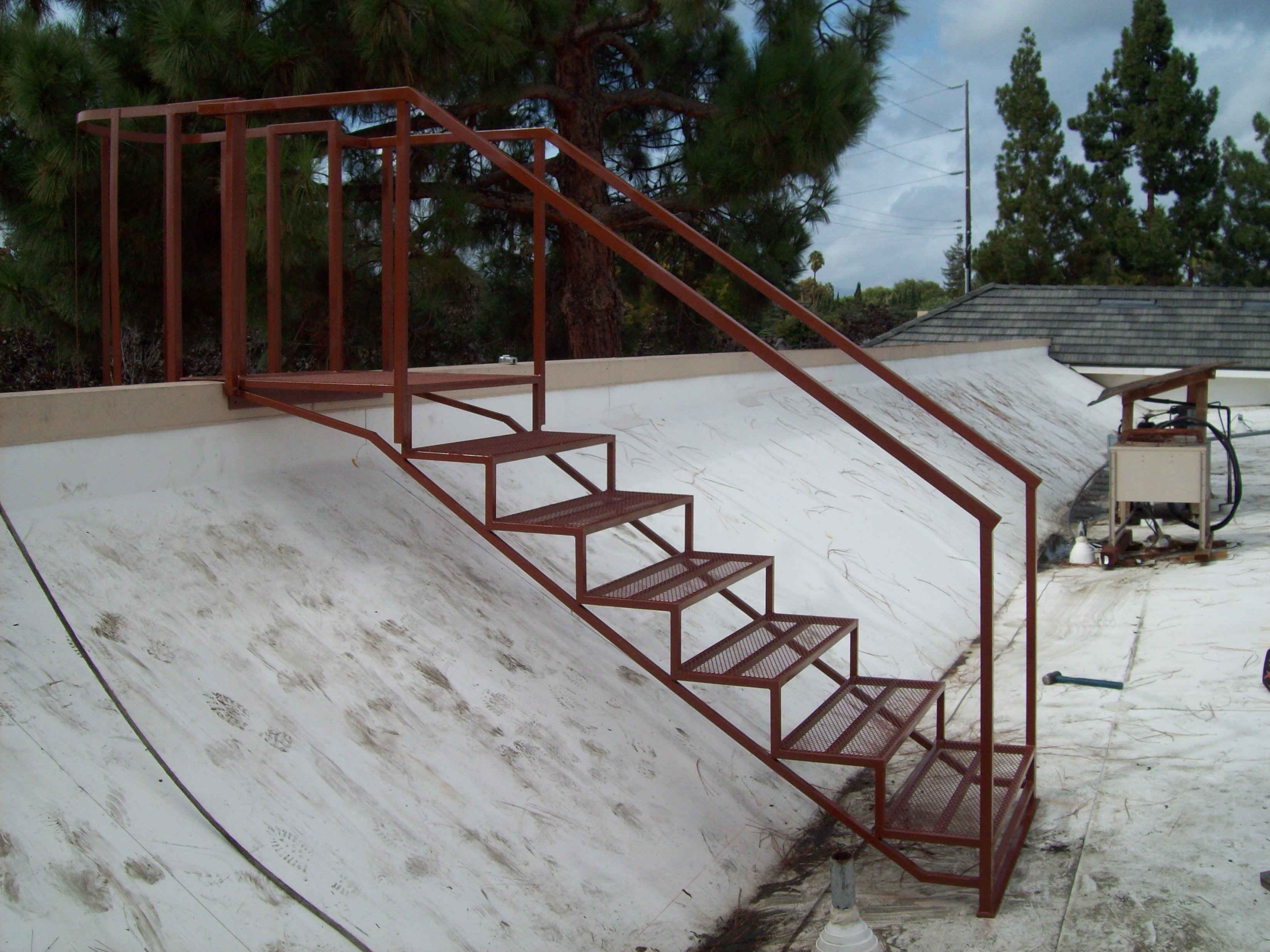 Roof Iron Stairs
