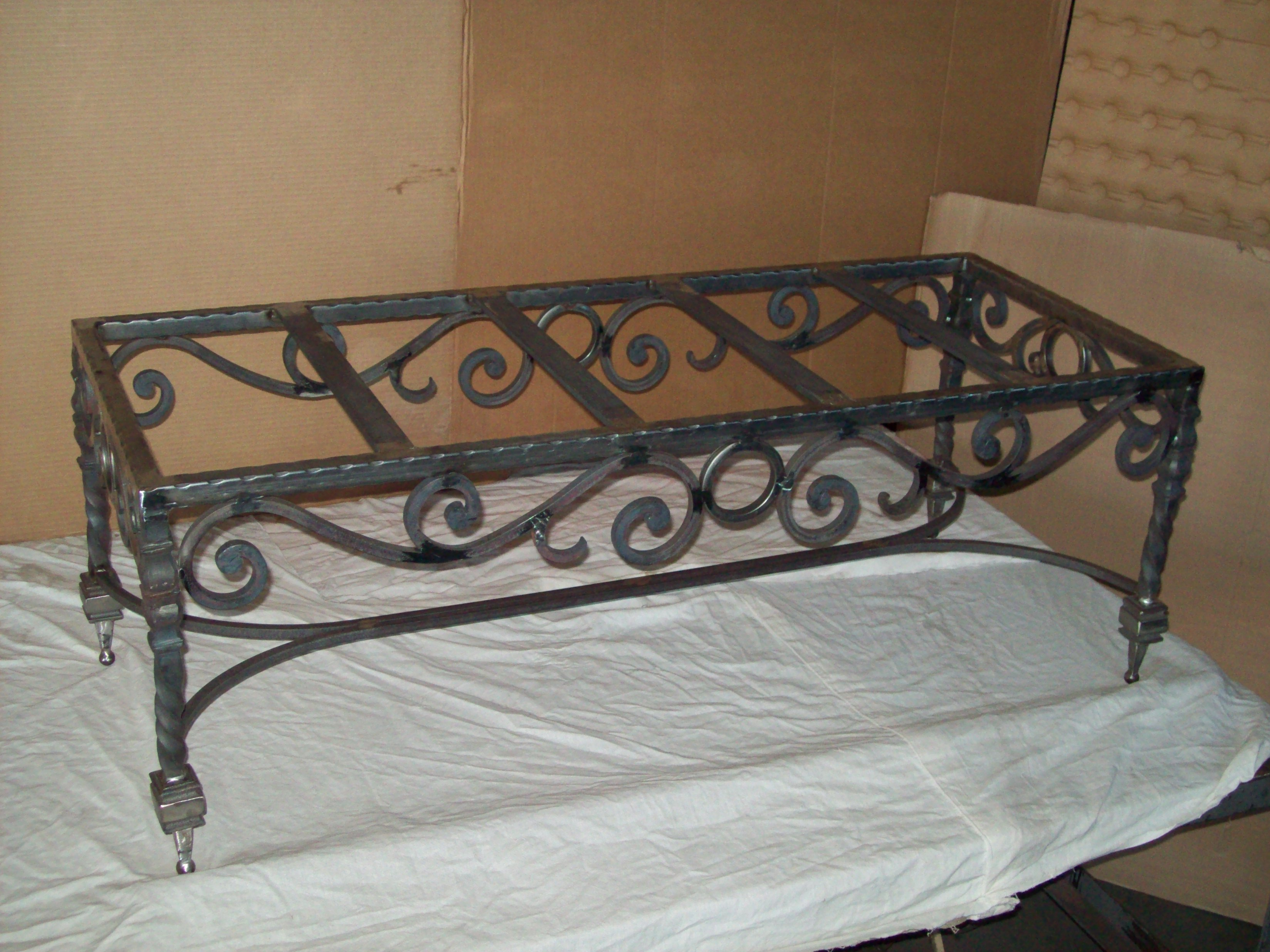 Small Ornamental Iron Coffee Table