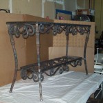 Custom Made Wrought Iron Table