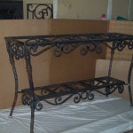 Forged Wrought Iron Ornamental Table