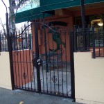 Small Ornamental Iron Gate with Small Fencing