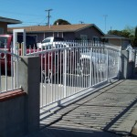White Iron Gate with Small Fencing