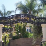 Custom Made Iron and Stucco Arbor