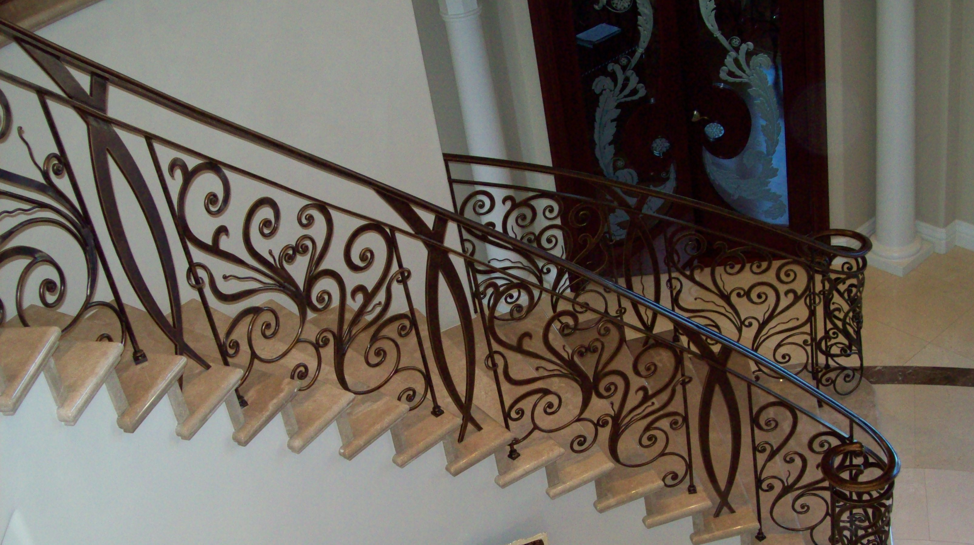 Ornamental railing panels - Forged Iron Railing