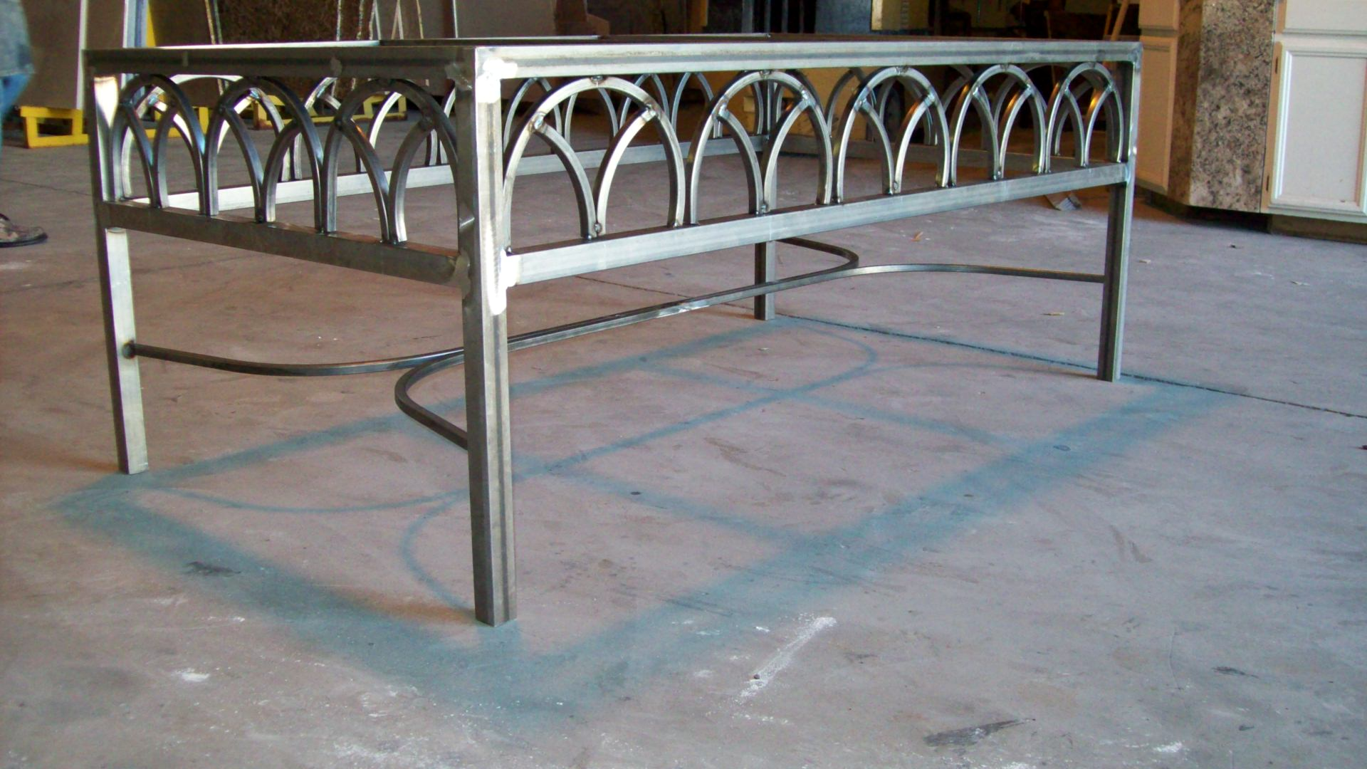 Forged Custom Made Iron Table. Iron Table Base