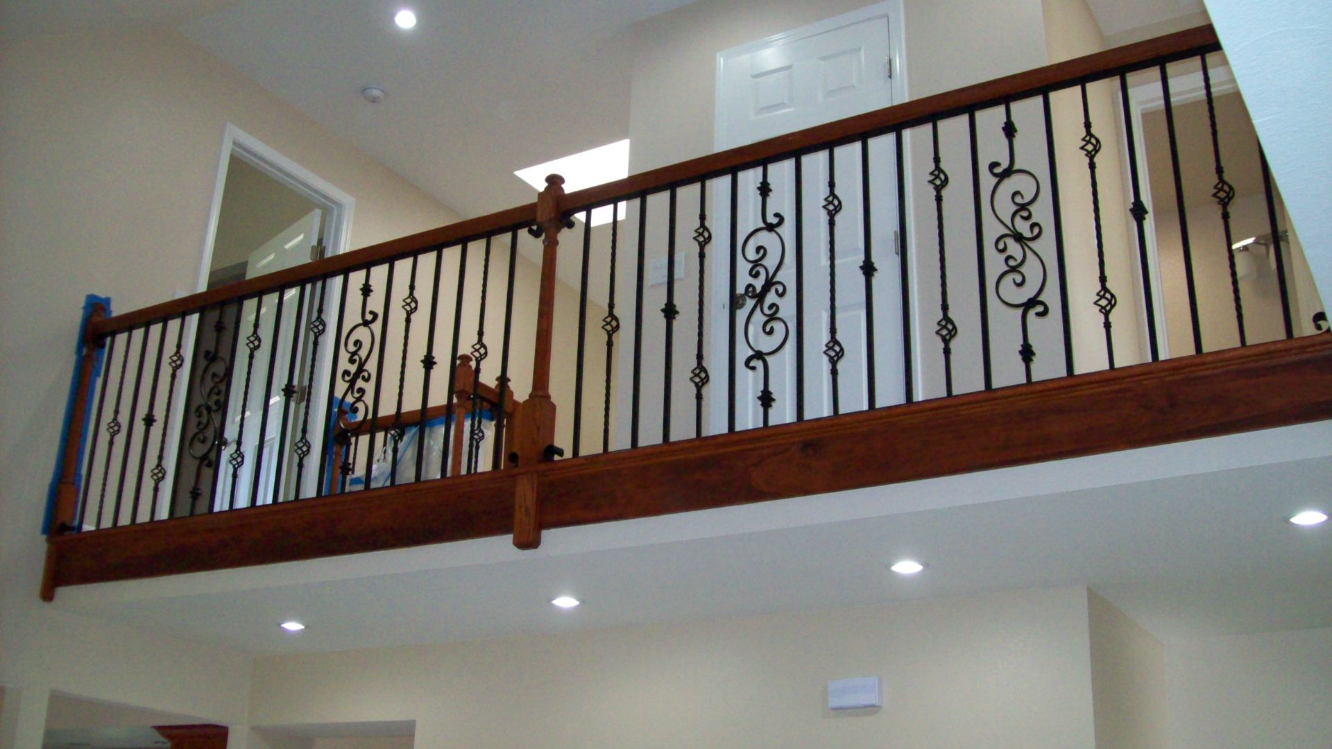 Balcony v m iron works inc in the san jose bay area for Wooden balcony