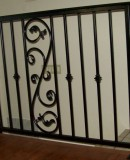 Iron Scroll and Square Knuckle Railing
