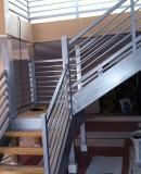 Wood & Iron Stair Railing
