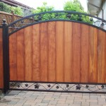 Wooden Gate with Iron Frame