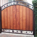 Grape Vine Iron and Wood Gate