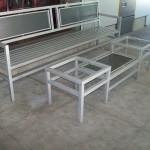 Iron Bench and Cutom Made Table