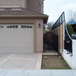 Ornamental Iron Fencing and Iron Screen Door