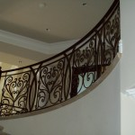 Curved Iron Staircase Railing