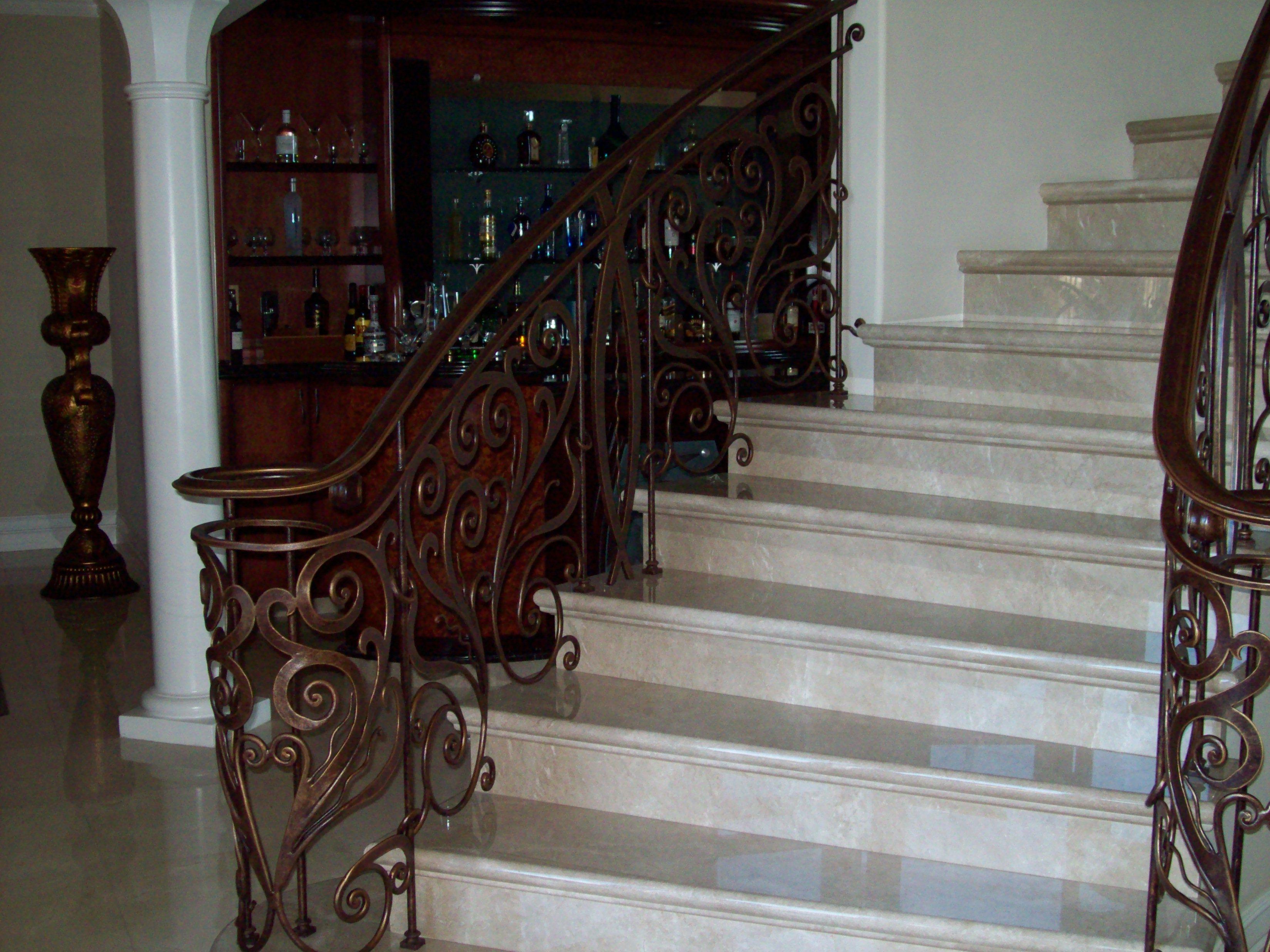 Ornamental iron panels - Custom Made Iron Railing Panels