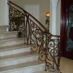 Scroll Iron Staircase Railing