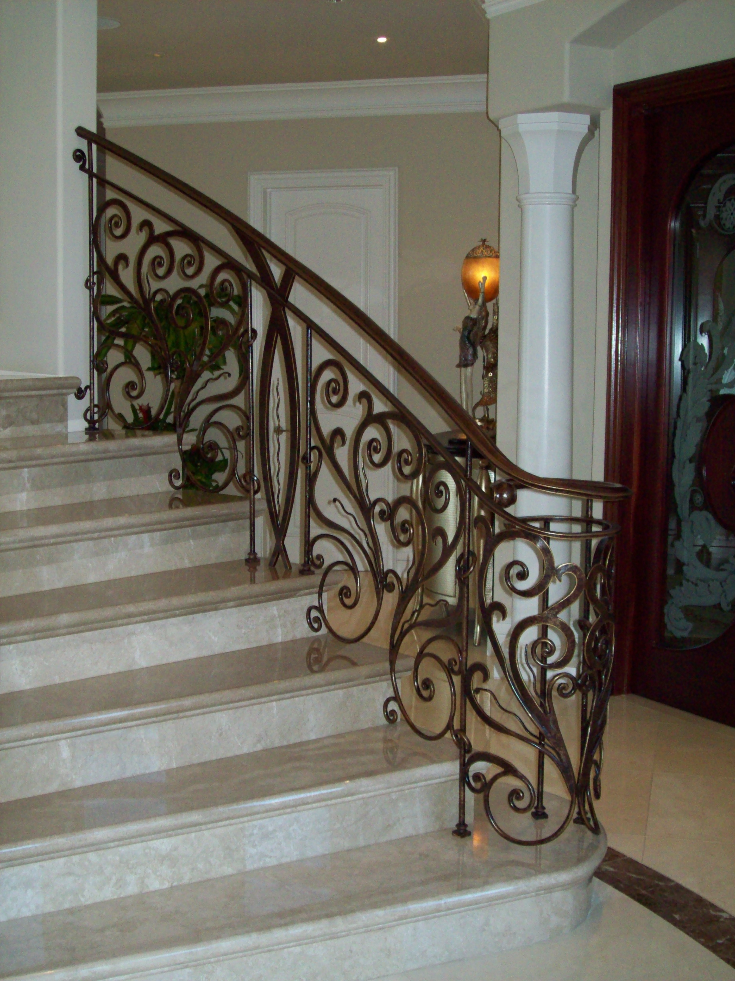 Wrap Around Deck Designs Interior Ornamental Iron Work 187 V Amp M Iron Works Inc In