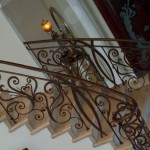 Solid Half Moon Staircase Railing
