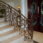Forged Iron Scroll Railing