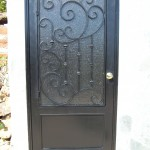 Glass Forged Iron Door