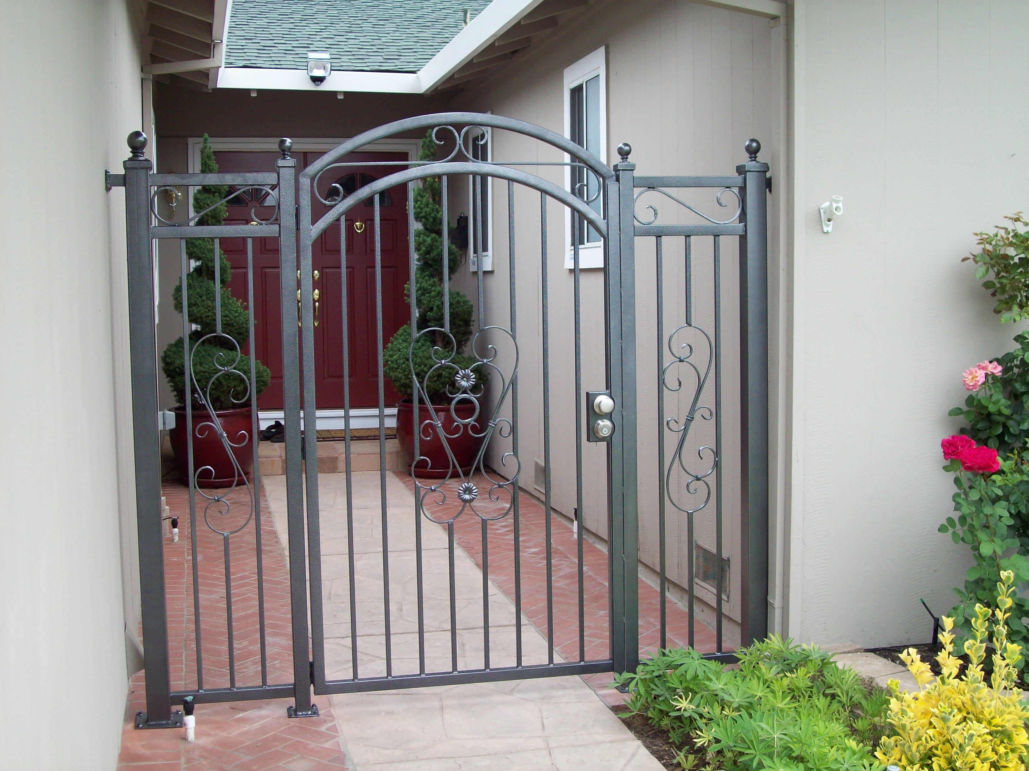 gallery custom recent long inc door screen doors gates wrought carson storm in a work iron beach works