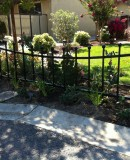 Iron Fence With An Arch Design