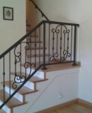 Interior Iron Railing With Scrolls