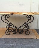 Wood Table With Iron Base
